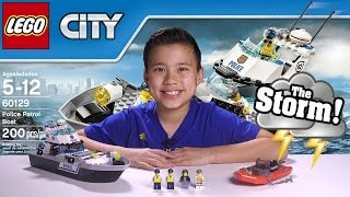POLICE PATROL BOAT - LEGO City Set 60129 UNDERWATER GoPro ACTION! Time-lapse, Unboxing, & Review