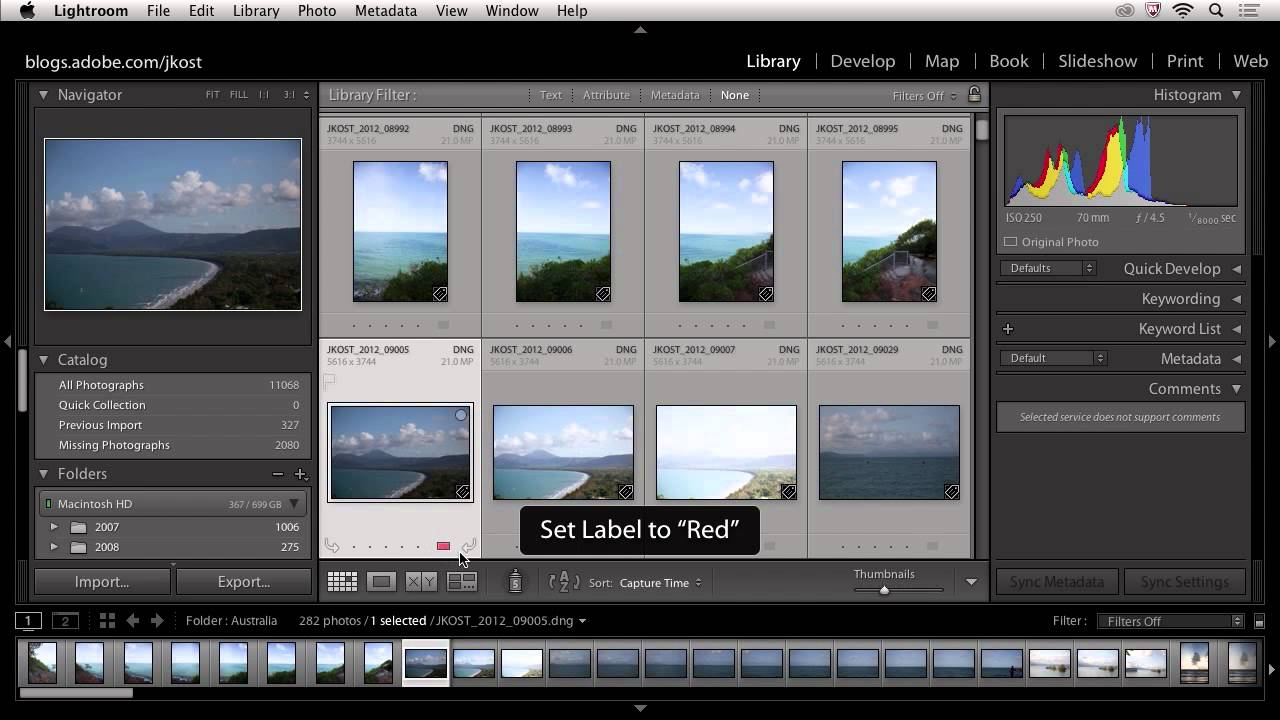 How to find previously imported photos in lightroom