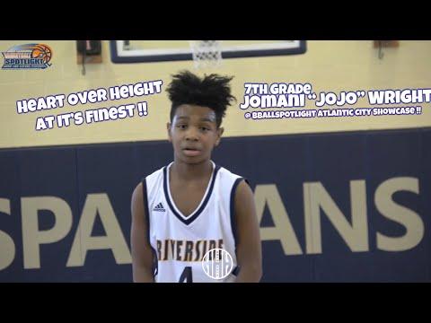 "7th Grader Jomani ""JoJo"" Wright Is TOUGH !!  Riverside Hawks 2023 — Atlantic City case 2018 🏀"