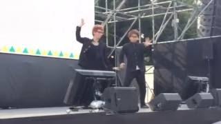 2016年8月14日 リオ2016日本選手団応援ステージ iPhoneで撮影したので画...