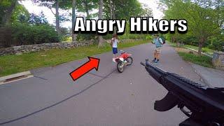 Angry Hikers Vs Dirt Bike