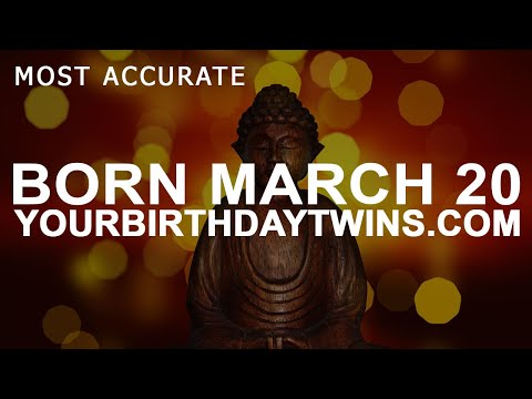Born on March 20 | Birthday | #aboutyourbirthday | Sample