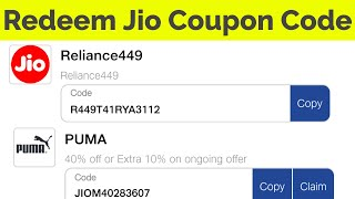 How To Use Jio Coupon Code(Reliance Vouchers)-Redeem 100% Cashback Offer-2019