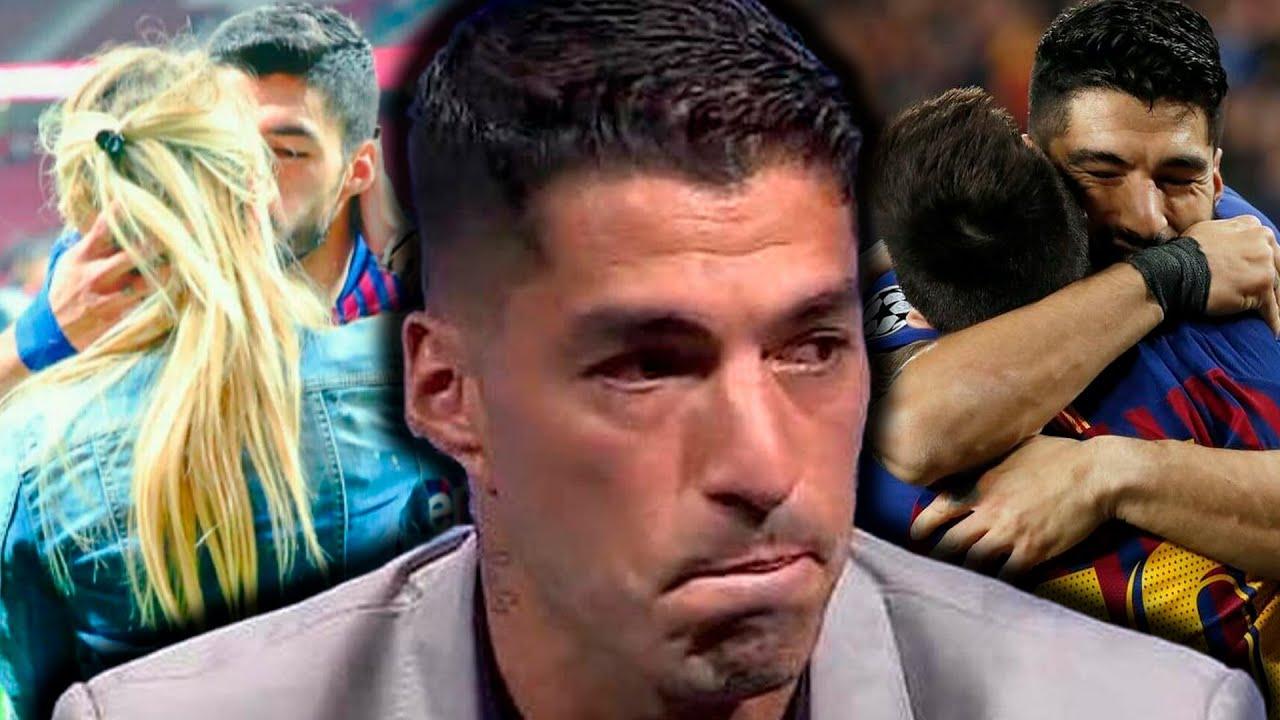 Así Fue La Emotiva Despedida De Luis Suarez. Su Esposa No Pudo Contener Las Lágrimas