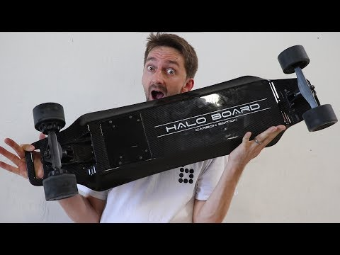 Thumbnail: IS THIS THE BEST ELECTRIC SKATEBOARD? | HALO BOARD CARBON FIBER ELECTRIC SKATEBOARD