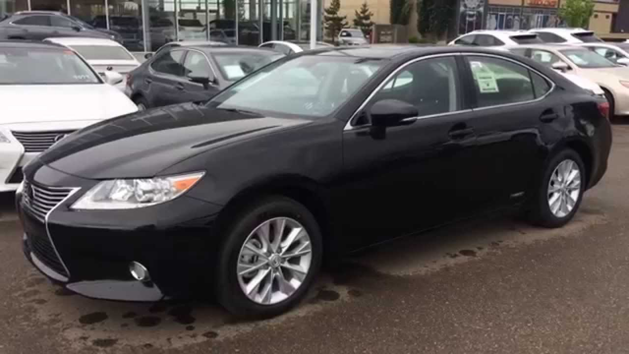 Great 2014 Lexus ES 300h Hybrid   Navigation Package Review   Central Alberta    Black On Black   YouTube