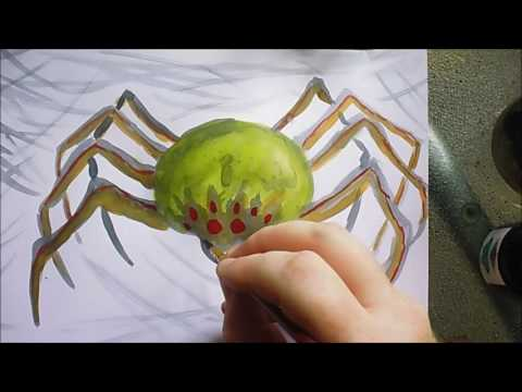 Spider Paint Sketch Drawing Ink Adventure