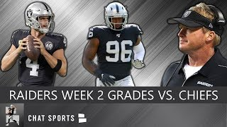 Raiders Grades: Derek Carr, Josh Jacobs, Tyrell Williams, Defense vs. Chiefs In NFL Week 2