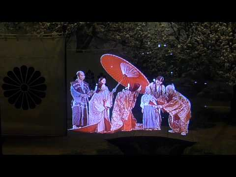 Historic projections at Osaka Castle