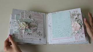 свадебный фотоальбом ручной работы  История любви И&В  Скрапбукинг