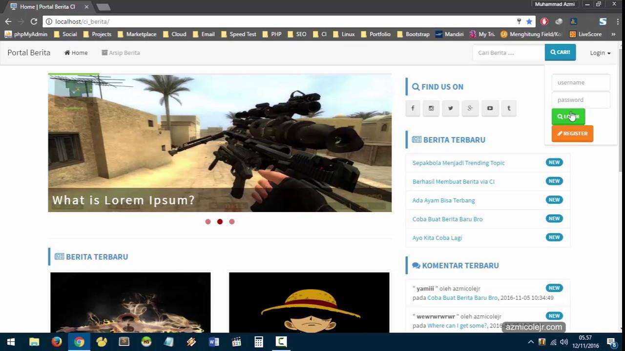 Dvd Video Tutorial Membuat Portal Berita Dengan Php Codeigniter Dan Bootstrap Kodingin