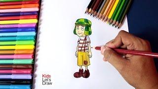 Cómo dibujar al CHAVO DEL 8 animado (paso a paso) | How to draw El Chavo del Ocho