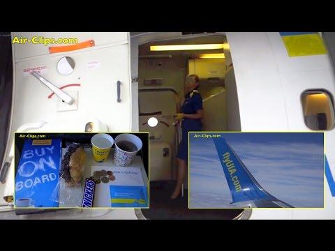 Ukraine International Boeing 737-500 Winglets (!) Frankfurt to Kiev [AirClips full flight series]