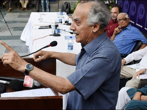 Arun Shourie speaks at Press Club in support of NDTV