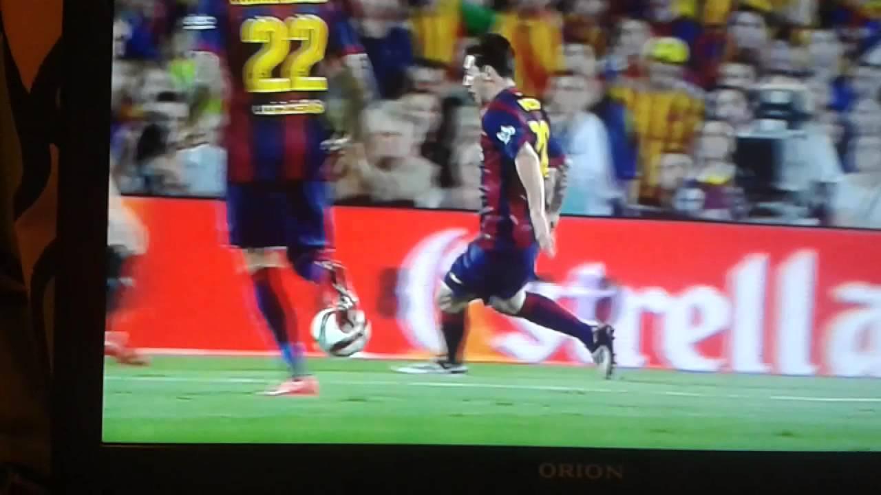 Messi Gol 1-0 FC BARCELONA Vs ATHLETIC BILBAO - YouTube