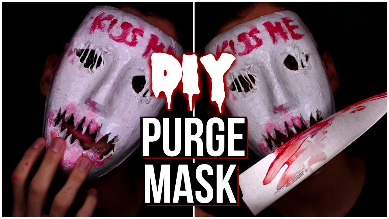 halloween: purge kiss me mask! halloween mask 2016! - youtube
