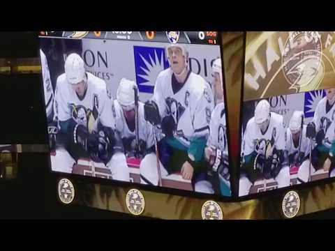 Anaheim Ducks - Hall of Fame 2017 Ceremony - Teemu Selanne & Paul Kariya - Honda Center