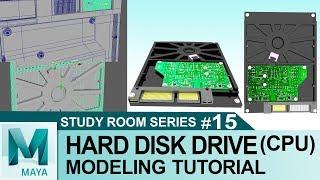 Hard Disk Drive (CPU) Tutorial in Autodesk Maya 2017   3D for Beginners   Study Room Series #15