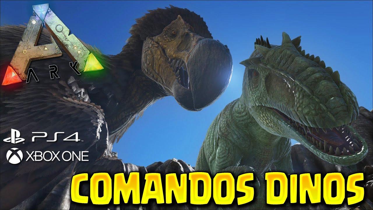 ARK PS4 COMANDOS DINOS ARK Survival Evolved PS4Xbox One YouTube