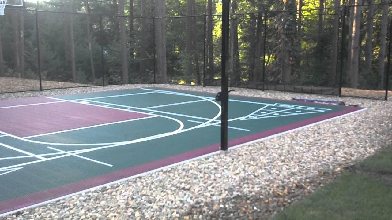 naturescape backyard versacourt basketball court kingston ma