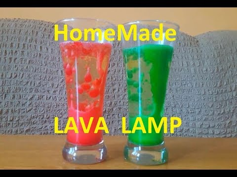 HomeMade LAVA LAMP   Science Experiment For KIDS