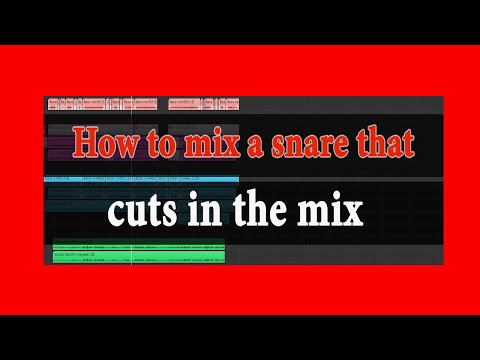 How to mix a snare that cuts in the mix | Mixing Drums  | Theo Nt | Mixing Tips