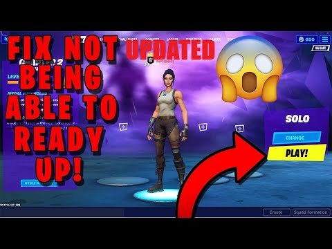 *NEW* HOW TO FIX NOT BEING ABLE TO READY UP IN FORTNITE CHAPTER 2! (Ready Up Glitch) *UPDATED*
