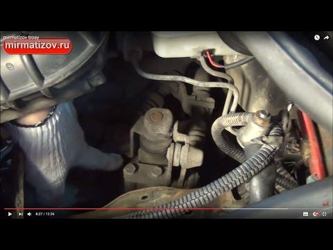 Дэу матиз регулировка тросов переключения передач