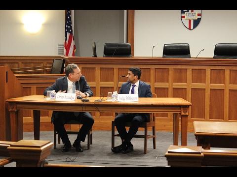Brendan Brown Lecture: A Conversation with Judge Sri Srinivasan