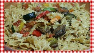 Roasted Vegetable Pasta Salad ~ Spring Pasta Salad Recipe ~ Tasty Easter Recipe  ~ Noreen's Kitchen