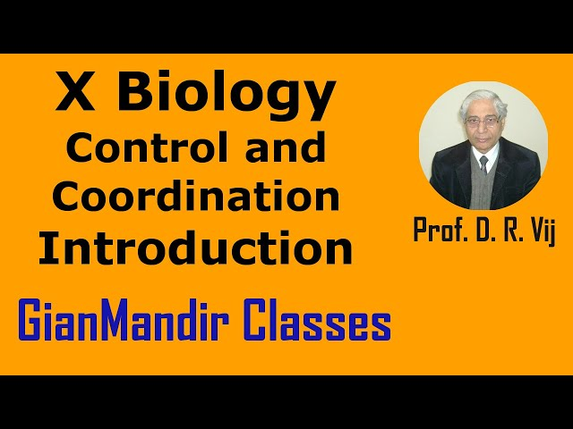 X Biology | Control and Coordination | Introduction by Manjit Ma'am