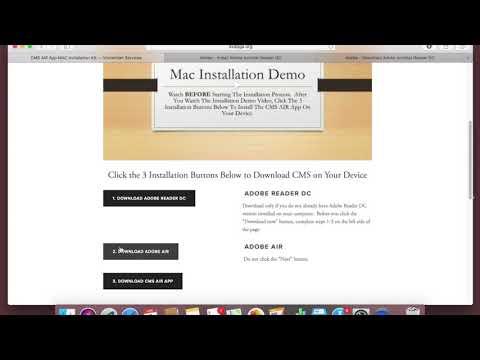 CMS AIR App Installation Mac Version - YouTube
