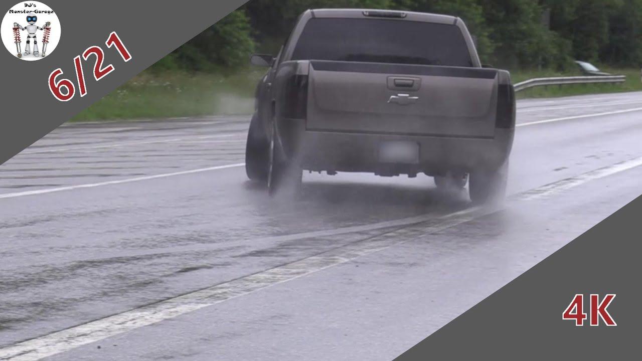 Modified Cars Leaving Nürburgring Tankstelle  04 07 21  Rain/ Powerslide...