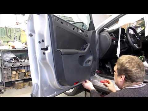 Как снять обшивку двери на фольксваген джетта