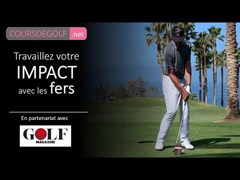 Travaillez votre IMPACT avec les fers. Cours de golf avec Renaud Poupard