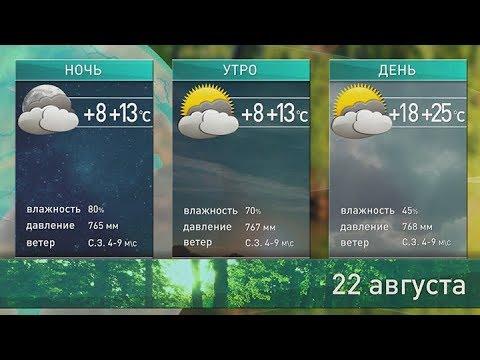 Прогноз погоды на 22 августа 2018