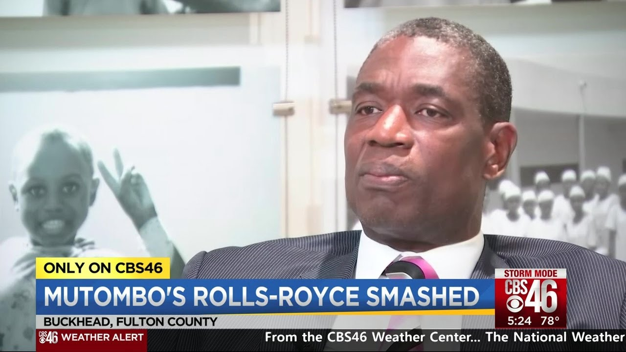 Dikembe Mutombo talks to CBS46 about his car being vandalized on Fathers Day