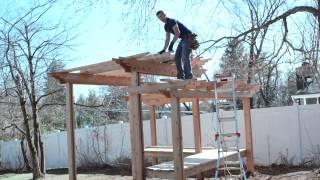 building a pergola, How to build a pergola, backyard landscape ideas