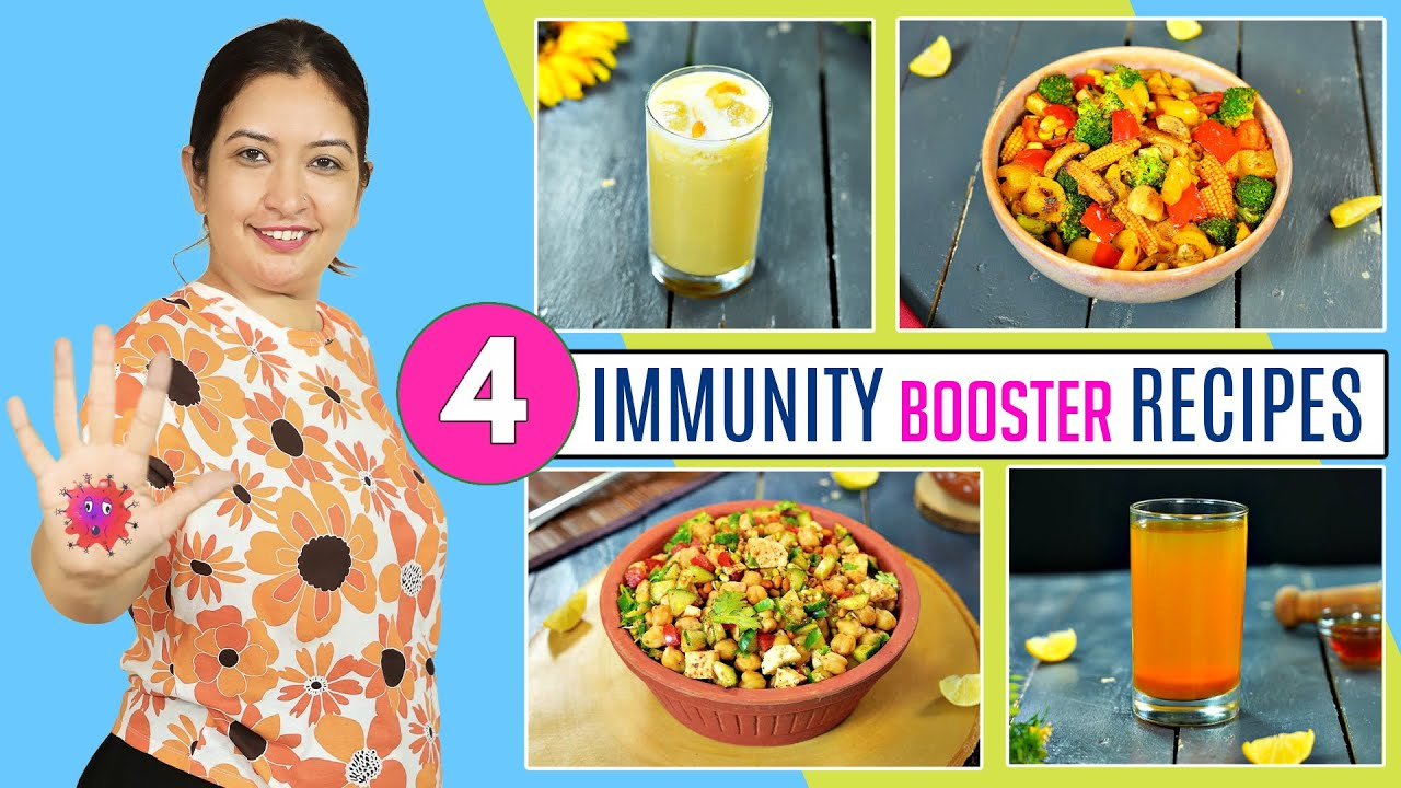 4 CHAAT and BEVERAGES - Immunity Booster Recipe | CookWithNisha