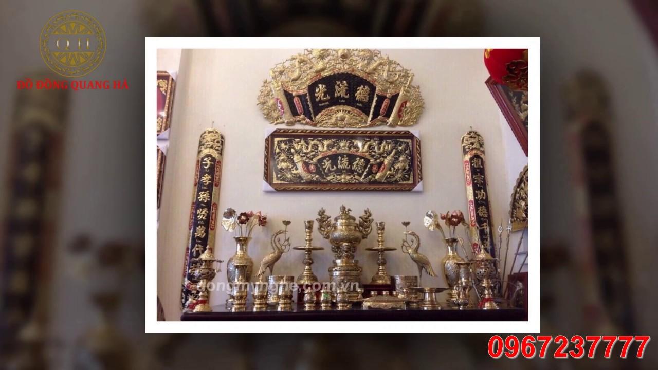 Cách Treo Hoành Phi Câu Đối trên bàn thờ gia tiên Đúng Phong Thủy