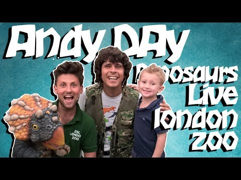 dinosaurs live at london zoo with ANDY DAY from Cbeebies