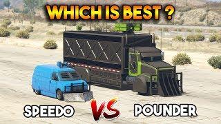 GTA 5 ONLINE : POUNDER CUSTOM VS SPEEDO CUSTOM (WHICH IS BEST?)
