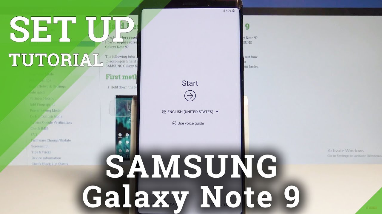 How to Set Up SAMSUNG Galaxy Note 9 - Activation / Configuration  |HardReset Info
