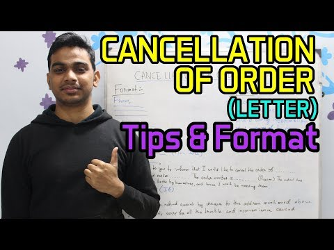 CANCELLATION OF ORDER (LETTER) | Tips & Format