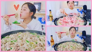 Pork belly&MungBeanSprouts (대패삼겹살숙주나물) Mukbang   KEEMI★