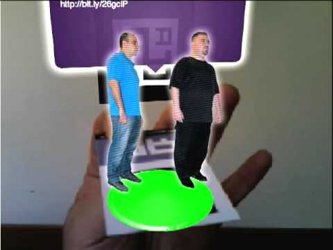 Augmented reality business card youtube reheart Choice Image