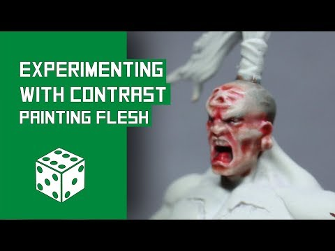 Experimenting With Contrast Paints - Painting Flesh