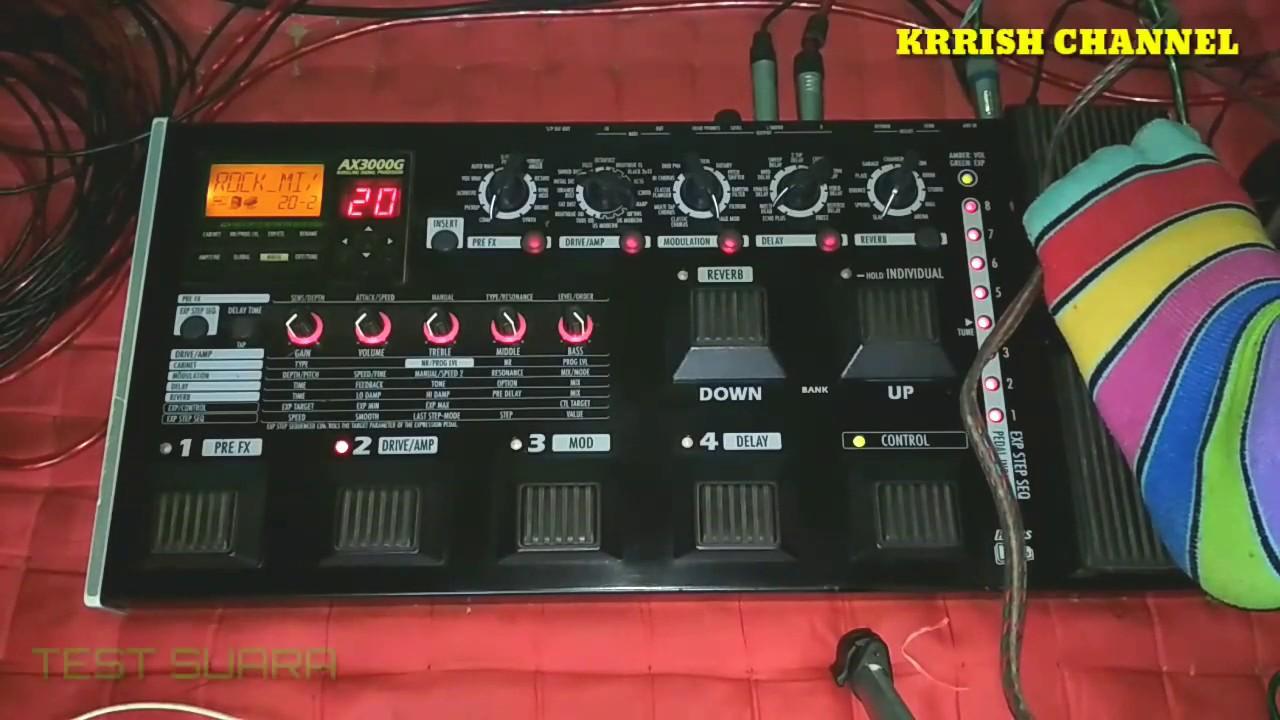 Korg ax3000g stereo system user manual | manualzz.