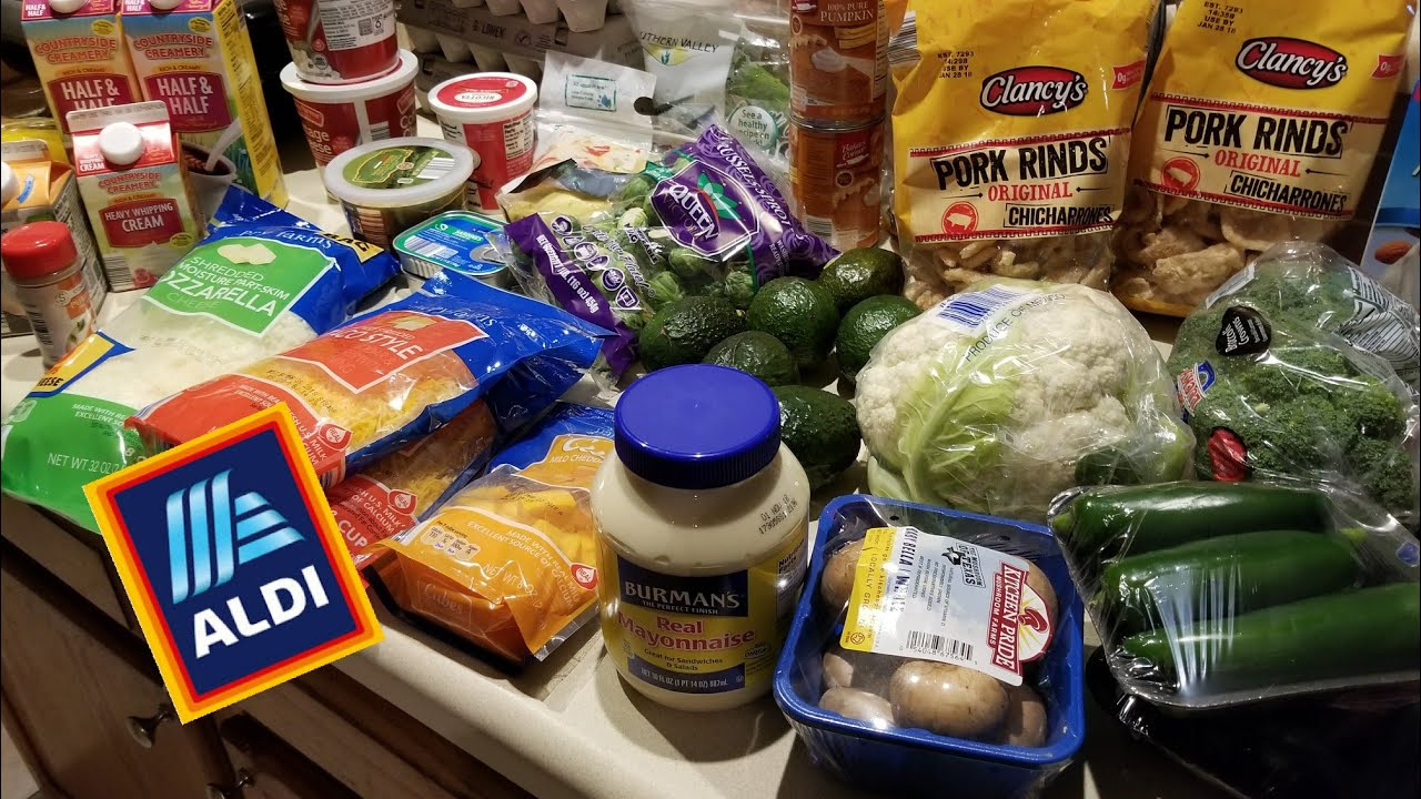 Holiday Meal Prep Grocery Haul - Partial Haul - Keto Aldi Haul - Low Carb  Grocery Haul