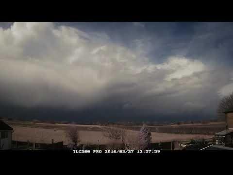 27th March 2016: Showers, thunder, lightning, hail on Easter Day, Irlam